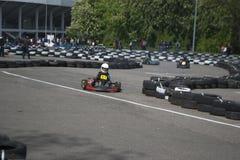 Il campionato karting Fotografia Stock Libera da Diritti