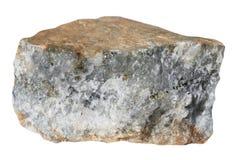 Il campione del minerale metallifero gold-bearing sulphidic del quarzo Fotografia Stock