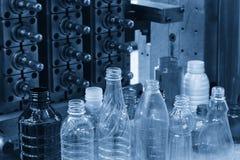 Il campione del prodotto di plastica della bottiglia Fotografie Stock Libere da Diritti