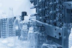 Il campione del prodotto di plastica della bottiglia Immagini Stock