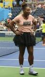 il campione Serena Williams del Grande Slam 23-time partecipa all'US Open di Arthur Ashe Kids Day prima del 2018 immagini stock libere da diritti