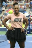 il campione Serena Williams del Grande Slam 23-time partecipa all'US Open di Arthur Ashe Kids Day prima del 2018 fotografie stock