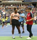 il campione Serena Williams del Grande Slam 23-time partecipa all'US Open di Arthur Ashe Kids Day prima del 2018 fotografie stock libere da diritti