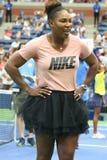 il campione Serena Williams del Grande Slam 23-time partecipa all'US Open di Arthur Ashe Kids Day prima del 2018 fotografia stock libera da diritti