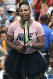 il campione Serena Williams del Grande Slam 23-time partecipa all'US Open di Arthur Ashe Kids Day prima del 2018 immagini stock