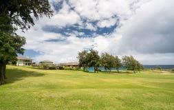 Il campo da golf di lusso moderno si dirige al punto di Makaluapuna in Maui Hawai Immagini Stock Libere da Diritti