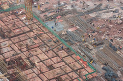 Il campo di costruzione Fotografie Stock Libere da Diritti