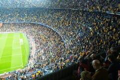 Il campo di football americano ed il pubblico allo stadio Nou si accampano, Barcellona immagine stock libera da diritti