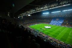 Il campo di football americano ed il pubblico allo stadio Nou si accampano, Barcellona immagini stock libere da diritti