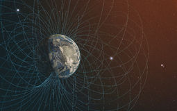 Il campo magnetico del pianeta Terra Fotografie Stock Libere da Diritti