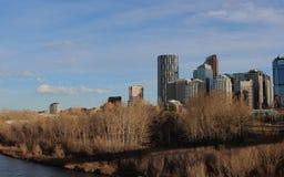 Il Canada Alberta Calgary Downtown Fotografia Stock Libera da Diritti