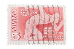 IL CANADA - CIRCA 1967: un bollo stampato nel corridore di manifestazioni, Immagine Stock Libera da Diritti