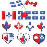 Il Canada e la Quebec Fotografia Stock Libera da Diritti