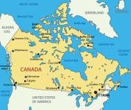 Il Canada - mappa Fotografie Stock Libere da Diritti