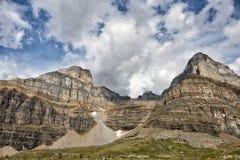 Il Canada Rocky Mountains Panorama fotografia stock libera da diritti