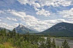 Il Canada Rocky Mountains Panorama immagine stock