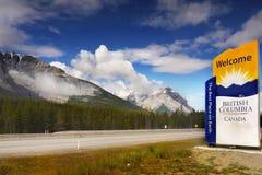 Il Canada, strada principale della Columbia Britannica Fotografie Stock