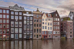 Il canale alloggia Amsterdam Fotografia Stock