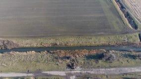 Il canale del livello più basso dell'impianto di irrigazione dei campi Infrastruttura per la coltivazione di riso Immagine Stock Libera da Diritti