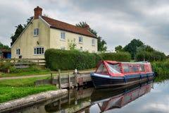 Il canale di Taunton & di Bridgwater Fotografie Stock
