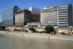 Il canale di Vienna, Danubio Fotografia Stock