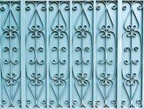 Il cancello blu del ferro Fotografia Stock