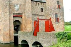 Il cancello del Muiderslot immagine stock