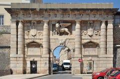 Il cancello dello sbarco a Zadar Fotografie Stock