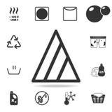 il candeggiante soltanto con ossigeno candeggia l'icona Insieme dettagliato delle icone della lavanderia Progettazione grafica di Immagine Stock Libera da Diritti