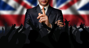 Il candidato britannico parla alla folla della gente fotografie stock libere da diritti