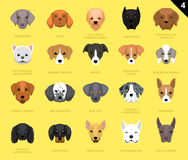 Il cane affronta il fumetto 4 dell'icona Immagine Stock Libera da Diritti