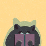 Il cane del fumetto ha letto un libro Immagine Stock