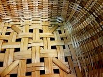 Il canestro di bambù Fotografia Stock