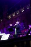 Il cantante cubano Pablo Milanes di concerto Immagini Stock Libere da Diritti