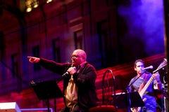 Il cantante cubano Pablo Milanes di concerto Immagine Stock Libera da Diritti