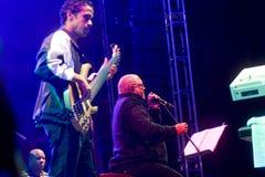 Il cantante cubano Pablo Milanes di concerto Immagine Stock
