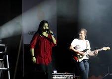 Il cantante indiano Sunidhi Chauhan effettua alla Bahrain Fotografia Stock Libera da Diritti