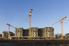 Il cantiere di nuove costruzioni Immagine Stock Libera da Diritti