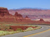 Il canyon borda l'area di ricreazione Immagini Stock