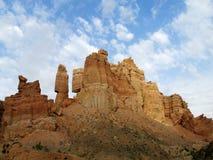 Il canyon Charyn (Sharyn) si eleva nella valle dei castelli Fotografia Stock Libera da Diritti