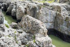 Il canyon del diavolo su Arda River, Bulgaria immagine stock