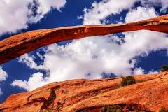 Il canyon della roccia dell'arco del paesaggio incurva il parco nazionale Moab Utah fotografie stock libere da diritti