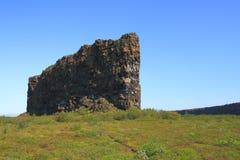 Il canyon di Asbyrgi Immagine Stock