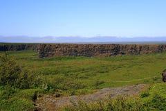 Il canyon di Asbyrgi Fotografie Stock