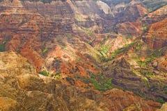 Il canyon di Waimea dettaglia Kauai Hawai Immagine Stock