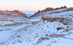 Il canyon macchiato del lupo trascura Fotografia Stock