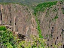 Il canyon nero del Gunnison fotografie stock libere da diritti