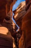 il canyon più basso dell'antilope, prenotazione navajo, Arizona, S.U.A. fotografia stock libera da diritti
