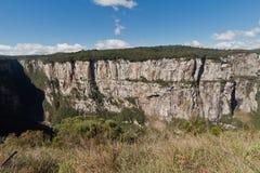 Il canyon Rio Grande di Itaimbezinho fa Sul Brasile Fotografie Stock Libere da Diritti