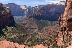 Il canyon trascura, Zion National Park Fotografia Stock